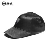 初�q中国风潮牌鸭舌帽子男女个性复古狮子头弯檐棒球嘻哈帽46100