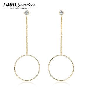 T400长款耳环韩国气质防过敏女款个性圆环甜美耳环首饰品情牵一线  2721