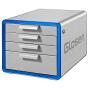 桌面文件柜带锁铝合金资料收纳柜办公收纳抽屉式文件盒