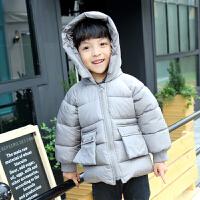 男童夹克短款加厚季大毛领韩版保暖羽绒棉2017新款儿童棉衣