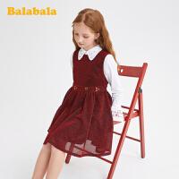 巴拉巴拉儿童公主裙女童无袖连衣裙春装童装中大童甜美洋气时髦女
