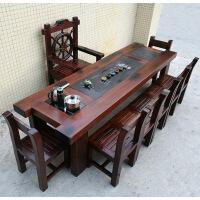 功夫茶几客厅小茶桌老船木茶桌椅仿古中式实木家具阳台小茶几客厅简约功夫泡茶台 整装