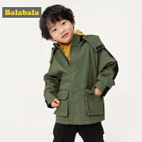 巴拉巴拉童装儿童男童工装外套宝宝2019新款秋装小童上衣洋气宽松