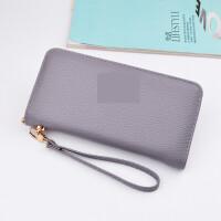 ?长款韩版手拿包女士多功能小清新零钱卡包拉链大容量手机包?