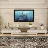 简欧电视柜茶几组合套装经济客厅北欧现代大理石小户型迷你家具 组装