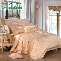 富安娜家纺 圣之花四件套1.8m床上套件提花被套高档床上用品菲奥娜