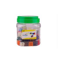 方形积木儿童益智塑料玩具拼插拼接宝宝 连接方块240粒
