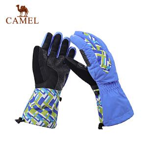 camel骆驼户外运动手套 情侣款防风耐磨保暖滑雪手套