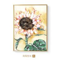 向日葵挂画 现代简约玄关墙面墙大幅金色客厅