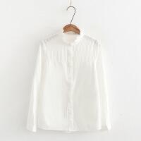 2018秋冬新款女士长袖衬衣女白色娃娃领修身打底职业装衬衫女