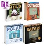 会动的3D图片书5册 海洋 草原 丛林 极地 野生动物 英文原版Ocean/Jungle/Polar/Safari/W
