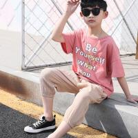男大童夏装男孩儿童衣服潮男童短袖运动套装