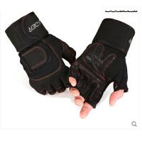 训练防滑透气手套加长护腕杠铃哑铃 健身手套男半指运动手套
