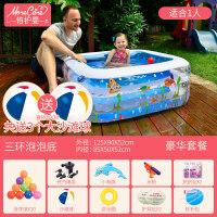 家用游泳池儿童游泳池充气家庭婴儿家用海洋球池加厚超大号戏水池