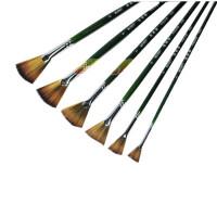 莫奈尼龙毛鱼尾扇形油画笔 扇形笔 扇形刷 水彩、油画颜料笔 656