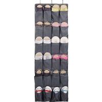 日式简约布艺储物整理袋 悬挂式门后收纳挂袋房间墙上鞋收纳 如图
