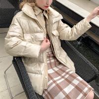 毛菇小象毛衣女秋冬外穿套头2074新款宽松圆领显瘦绑带毛针织衫