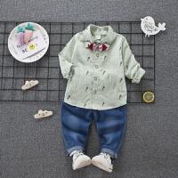 宝宝春秋装男01-2-3-4岁儿童户外运动装加绒迷彩服装套装时尚潮衣