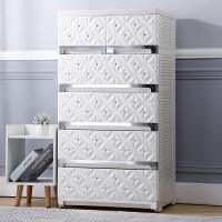50面宽60cm宽塑料五层抽屉式收纳柜子储物柜衣物整理箱婴儿童衣柜