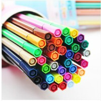 爱好 透明桶装水彩笔 36色苗条水彩笔 儿童可水洗涂鸦笔 1661-36