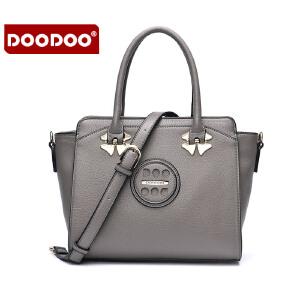 【支持礼品卡】DOODOO 包包2017新款时尚女日韩风范OL手提包休闲多隔层百搭单肩斜挎女士包包 D6092