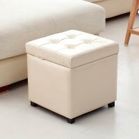 收纳凳子储物凳现代简约多功能实木皮革换鞋凳沙发凳整理箱可坐人
