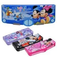 迪士尼多功能文具盒米奇多功能自动铅笔盒七开笔盒DM0974-1