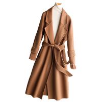 反季赫本风毛呢双面羊绒大衣女中长款2018新款秋冬季呢子外套
