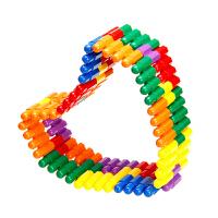 头积木塑料拼插拼装玩具儿童宝宝幼儿园亲子 头积木(400粒 收纳盒)