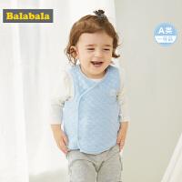 巴拉巴拉宝宝马甲冬季2019新款婴儿背心加厚保暖夹棉上衣外穿洋气