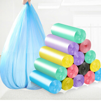 10卷装彩色垃圾袋新料垃圾袋加厚垃圾袋厨房垃圾袋 颜色随机