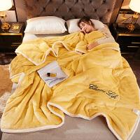 君别法兰绒毯子加厚三层毛毯被子冬季用双层珊瑚绒床单人宿舍学生保暖法兰绒毯子