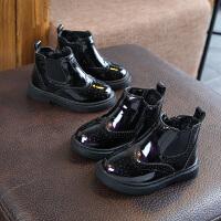 女童�R丁靴秋冬2018新款�和�英���L小公主短靴皮靴����靴子1-3�q