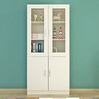 自由组合书柜书架带玻璃门简约现代储物柜子简易组装书橱经济型 0.6米以下宽