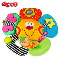 Lalababy/拉拉布书宝宝0-1岁玩具摇铃婴儿安抚玩偶手偶感官大脸花