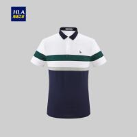 HLA/海澜之家polo衫男短袖2019夏季新品套头舒适短T男