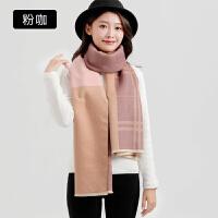 围巾女韩版冬季长款冬天披肩双面仿羊绒两用学生百搭加厚保暖围脖