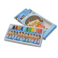 金万年 儿童油画棒12/18/24/36色蜡笔套装 绘图笔六角形 外盒随机 多款可选