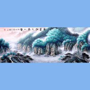 中国青年美术家协会常务理事,中国扇子艺术学会会员,中国山水画院专业画家,山东美术家协会会员,国家一级美术师高云鹏(春来绿水江如蓝)