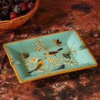 美式田园彩绘陶瓷烟灰缸创意个性复古家居装饰品客厅复古摆件 玛格丽特烟灰缸
