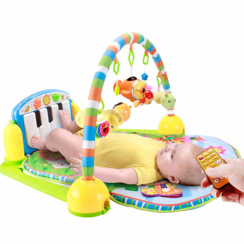 遥控版新生婴儿健身架器儿童脚踏钢琴音乐0-1岁宝宝玩具6-12个月3