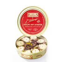 贝贝德斯 西班牙进口海鲜 橄榄油浸章鱼罐头 150g