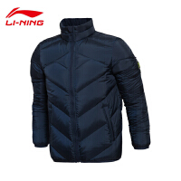 李宁短羽绒服男士韦德系列保暖立领修身冬季90%鹅绒运动服AYML011