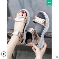 魔术贴运动凉鞋女ins潮韩版学生百搭时尚厚底沙滩鞋