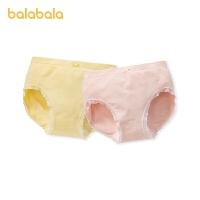 巴拉巴拉女童内裤三角裤棉儿童宝宝短裤中大童亲肤柔软可爱两条装