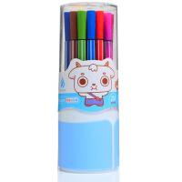 卓峰 24色筒装可洗水彩笔ZF9902(包装盒图案随机)可水洗彩色画画笔儿童文具幼儿园画笔绘图涂鸦粗杆小学生水彩笔 当