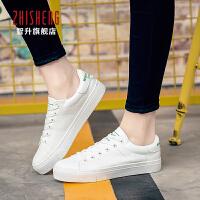 2017春季新款小白鞋女系带韩版学生球鞋白色帆布鞋女低帮板鞋平底休闲鞋潮