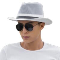 牛仔帽子礼帽爵士帽遮阳帽太阳帽出游草帽沙滩帽男女夏天户外帽子