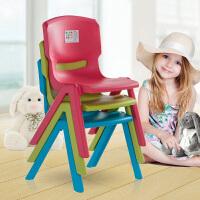 禧天龙儿童塑料靠背凳子加厚休闲小凳可叠放座椅简易餐椅换鞋凳