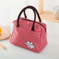 装饭盒的手提包饭袋子饭盒包便当袋防水简约可爱帆布手拎包女清新
